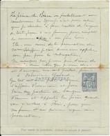 D 59 France Entier Postal Sur Carte-Lettre 90-CL11 15c Bleu Sur Verdâtre Piquage B - Autres