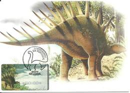 Carte Maximum - Portugal - Dinossauro - Dinosaure - Dinosaur - Dessentaurus - ATM - Prehistorics