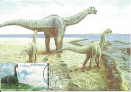 Carte Maximum - Portugal - Dinossauro - Dinosaure - Dinosaur - Camarasaurus - ATM - Prehistorics