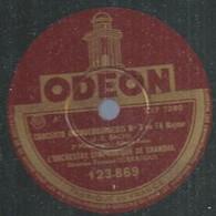 """78 ) 78 Tours 30cm  ODEON 123869  """" CONCERTO BRANDEBOURGEOIS """" + """" MENUET ET BOURREE  """" ORCHESTRE SYMPHONIQUE DE CHAMBRE - 78 G - Dischi Per Fonografi"""