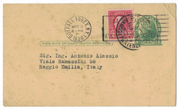 IW56     USA 1936 - Postal Stationary, For Reggio Emilia Italy - 1921-40