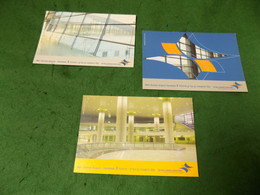 VINTAGE TRANSPORT AVIATION: AIR Ben Gurion Airport Terminal 3 X3 Feedback Cards Colour ISRAEL - Other