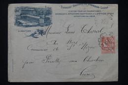 FRANCE - Enveloppe De L 'Etablissement Thermal De Bourbon Lancy En 1904 Pour Pouilly/ Charlieu - L 78107 - 1877-1920: Semi-moderne Periode