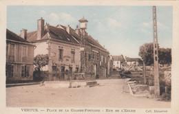 51 - VERTUS - MARNE - PLACE DE LA GRANDE FONTAINE - RUE DE L'EGLISE - VOIR SCANS - Vertus
