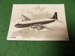 VINTAGE TRANSPORT AVIATION: Sabena Souvenir Card B&w Belgium - 1946-....: Modern Era