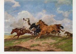 DC1704 - Ak Pferde Pferd Horse Wiechmann Bildkarten Roloff Laufende Pferde - Caballos