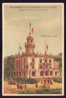 Cartão Publicidade PAVILHÃO De PORTUGAL Na EXPOSIÇÃO De PARIS 1889. Old Chromo Victorian Trade Card VTC Exposicion - Other