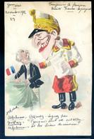 Cpa Gouachée Politique Satirique Illustrateur Signée Robert ?  Toujours Le Fameux Roi D' Espagne -- Nov. 1912  NOV20-26 - Satira