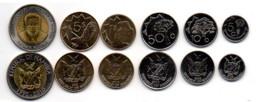 Namibia - Set 6 Coins 5 10 50 Cents 1 5 10 Dollars 2009 - 2012 UNC Lemberg-Zp - Namibia