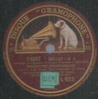 """83 ) 78 Tours 30cm  GRAMOPHONE 823  """" FAUST Ballet N° 4 """" + """" FAUST Ballet """" ORCHESTRE SYMPHONIQUE - 78 G - Dischi Per Fonografi"""