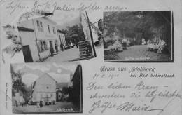 ADOLFSECK Bei BAD SCHHWALBACH HESSE GERMANY~GASTHOF-PARTIE Im GARTEN-~1901 LUDWIG FEIST MULTI IMAGE POSTCARD 50058 - Other
