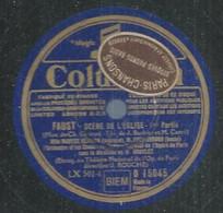 """87 ) 78 Tours 30cm  COLUMBIA 15045  """" FAUST SCENE DE L'EGLISE """" + """" FAUST SCENE DE L'EGLISE """" Maryse BENIJON - 78 G - Dischi Per Fonografi"""