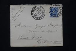 ESPAGNE - Enveloppe De San Sebastien Pour La France En 1904 - L 78145 - Cartas