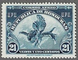 Honduras 1943  21 C Blau - Prachtorchidee - - Honduras