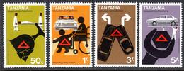 TANZANIA - 1978 ROAD SAFETY SET (4V) FINE MNH ** SG 238-241 - Tanzania (1964-...)