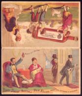 Cartão Publicidade Remedio Para As Dores. Old Victorian Trade Card VTC Foldout Perry Davis PAIN KILLER 1880 PORTUGAL - Altri