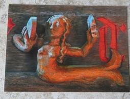CPM Regard De Bretagne 56 La Sirène Au Miroir Chapelle Notre Dame Du Loc à Saint Avé Format 18 Cm/13 Cm - Skulpturen