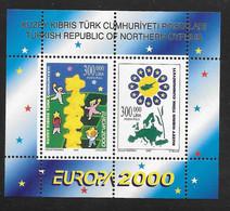Cyprus (Turkish Posts) 2000 Europa CEPT Miniature Sheet MNH - Nuovi