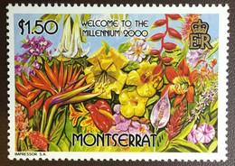 Montserrat 2000 Welcome To The Millennium Flowers MNH - Non Classificati