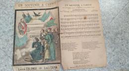 UN SOUVENIR A CARNOT - Partitions Musicales Anciennes