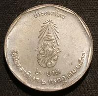 THAILANDE - THAILAND - 2 BAHT 1988 ( 2531 ) - Rama IX - Anniversaire Du Règne - KM 210 - Thailand
