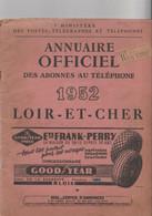ANNUAIRE TELEPHONIQUE--LOIR ET CHER 1952--VOIR SCANNER - Telefoonboeken