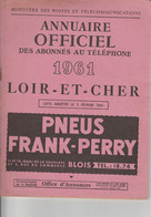ANNUAIRE-TELEPHONIQUE--LOIR ET CHER--1961--VOIR SCANNER - Telefoonboeken