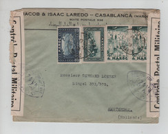 714PR/ Maroc WW2 Jewish Cover Jacob&Isaac Laredo Casablanca 1939 Tape Censorship > Holland - WW2 (II Guerra Mundial)