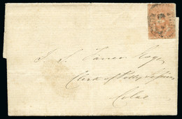 1850-53 1d Dull Red, Ham Printing From Third State Of Dies, On Provincial 1d Town Letter - Lettres & Documents