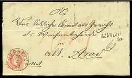 1869 (26.2) Folded Entire From Versetz To Arad, Franked - Lettres & Documents