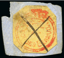 One Of Only Thee Examples Recorded Off Cover - 1860 (1d) - Bermudes