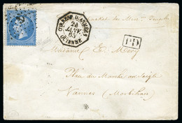 1860 (Sept 30). Cover From Rio De Janeiro To Vannes, France, Endorsed 'Per Le Packet Messies. Imples', Bearing France 18 - Lettres & Documents