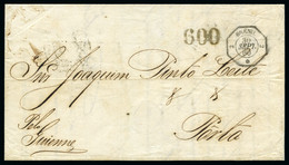 1860 (Sept 30) Entire Letter From Bahia To Porto, Bearing BRÉSIL/2-2 Octagonal Date Stamp - Lettres & Documents