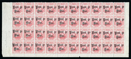 """POSTAGE DUES: 1895 15c Rose-Red Mint Og Block Of 40 Comprising Lower Four Rows Of Sheet, All Show The """"a"""" Of """"Postage"""" O - Neufs"""