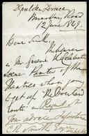 A REMARKABLE WAGHORN LETTER1849 - Préphilatélie