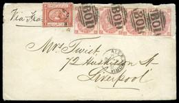 A WONDERFUL COMBINATION FRANKING1869 (18.2) Envelope - 1866-1914 Khédivat D'Égypte