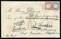 1875 Envelope From Brunswick, Germany, Sent To Suez, Souakim And Massawah - Lettres & Documents