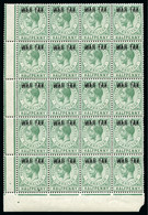 1918 War Tax 1/2d With DOUBLE OVERPRINT Variety In Mint Nh Block Of 20 - Gibraltar