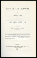 """1837 """"The Post Office Reform; It's Importance And Practicability"""" By Rowland Hill - Lettres & Documents"""