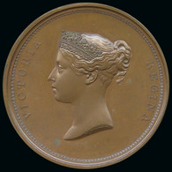 1837 William Wyon City Medal In Bronze, 55mm - Autres