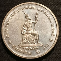 THAILANDE - THAILAND - 2 BAHT 1992 ( 2535 ) - Thai National Bank - KM 277 - Thailand