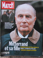PARIS MATCH N°2372 (10 Novembre 1994) Mitterrand Et Sa Fille - Sylvie Vartan - B Bhutto - Gilles Et Didier Pironi - Algemene Informatie