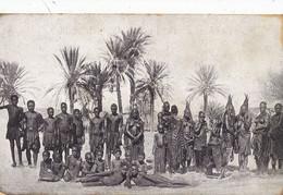 Deutsch Sud West Afrika Gruppe Von Hereros Aus Otjikango . Nude Boys And Women . - Namibia