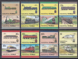 Md_ Tuvalu Nukufetau 1987 - Mi.Nr. 91 - 106 - Postfrisch MNH - Eisenbahnen Railways Lokomotiven Locomotives - Treni
