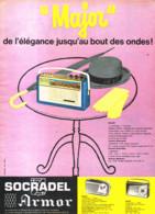 """PUB TRANSISTOR    """" MAJOR """"  De  ( SOCRADEL ARMOR ) 1960 ( 1 ) - Altri"""