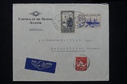 ALGÉRIE - Enveloppe Du Consulat De Suisse à Alger Pour La Suisse En 1941 - L 78192 - Storia Postale