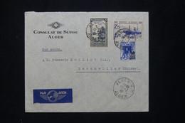 ALGÉRIE - Enveloppe Du Consulat De Suisse à Alger Pour La Suisse En 1941 - L 78193 - Storia Postale