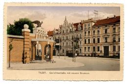Cpa, Tilsit. Gerichtsstrabe Mit Neuem Brunnen - RUSSIE  /n 216 - Russia