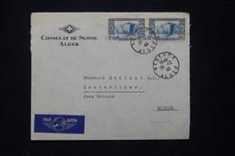 ALGÉRIE - Enveloppe Du Consulat De Suisse à Alger Pour La Suisse En 1940 - L 78195 - Storia Postale