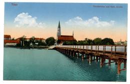 Cpa, Tilsit. 204838. Teichbrucke Und Kath Kirche  - RUSSIE  /n 217 - Russia